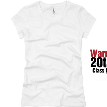 Warriors 20 Year Class Junior Fit Basic Bella Favorite Tee