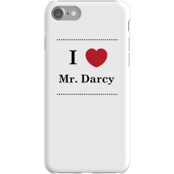 I Heart Mr. Darcy Plastic iPhone 5 Case White 