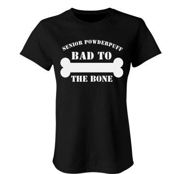 Senior Bad To The Bone Junior Fit Bella Crewneck Jersey Tee