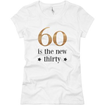 60 Years Young Junior Fit Basic Bella Favorite Tee