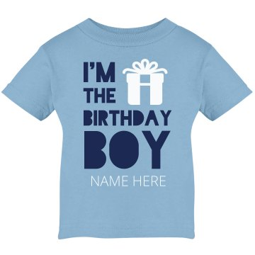 I'm The Birthday Boy Infant Rabbit Skins Lap Shoulder Tee
