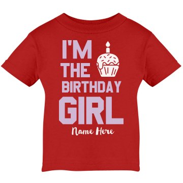 I'm The Birthday Girl Infant Rabbit Skins Lap Shoulder Tee