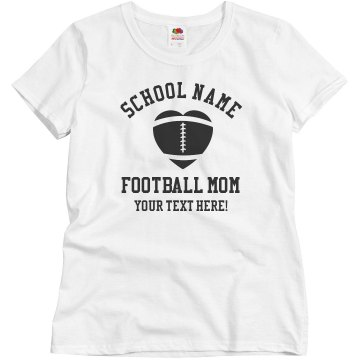 Dublin Football Mom Junior Fit Basic Bella Favorite Tee