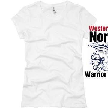Westerville Football Mom Junior Fit Basic Bella Favorite Tee