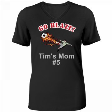 Soccer Mom Rhinestone Misses Relaxed Fit Anvil V-Neck Tee