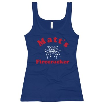 Matt's Firecracker Junior Fit Bella Longer Length 1x1 Rib Tank Top