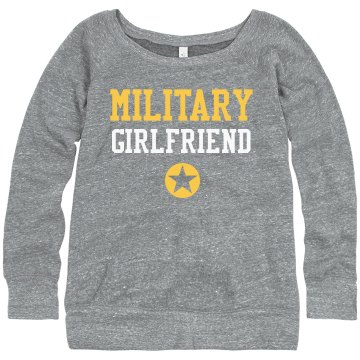 Army Girlfriend w/Back Junior Fit Bella Triblend Slouchy Wideneck Sweatshirt