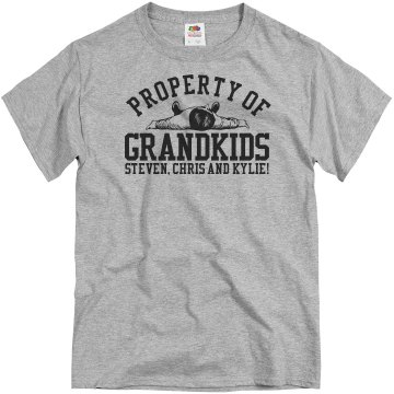 Property Of Grandkids Unisex Basic Gildan Heavy Cotton Crew Neck Tee