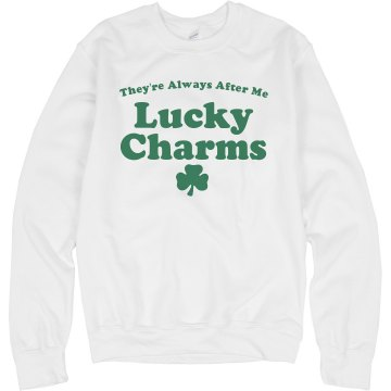 Lucky Charms St. Pat Tee Junior Fit Bella Sheer Longer Length Rib Tee