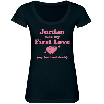 My First Love Junior Fit Bella Sheer Longer Length Scoopneck Tee