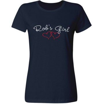 Rob's Girl Misses Relaxed Fit Gildan Ultra Cotton Tee