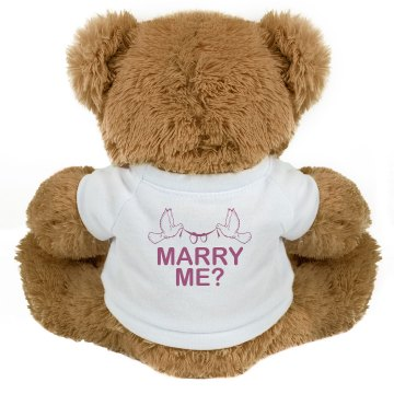 Wedding Proposal w/ Back Medium Plush Teddy Bear