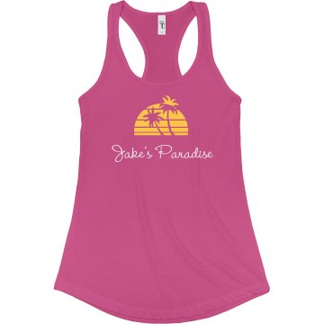 Jake's Paradise Junior Fit Bella Sheer Longer Length Rib Racerback Tank Top