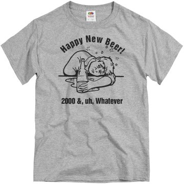 Happy New Beer Unisex Gildan Heavy Cotton Crew Neck Tee