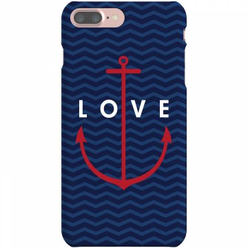 Anchor Love Plastic iPhone 5 Case White