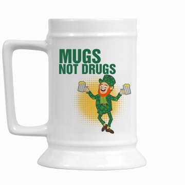 Mugs Not Drugs Stein 16oz Ceramic Stein