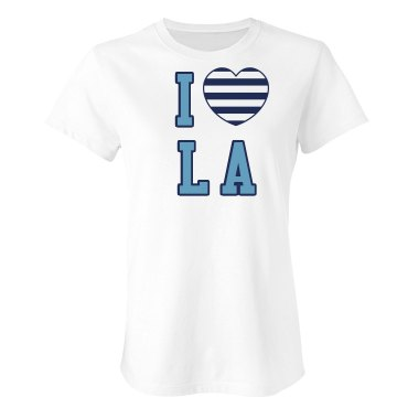 I Love LA Tee Junior Fit Bella Sheer Longer Length Rib Tee