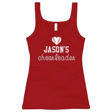 Jason's Cheer Rhinestones Junior Fit Bella Sheer Longer Length Rib Strap Tank Top