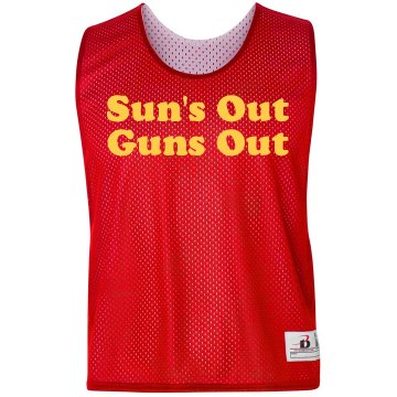 Sun's Out Guns Out Pinnie Badger Sport Lacrosse Reversible Practice Pinnie