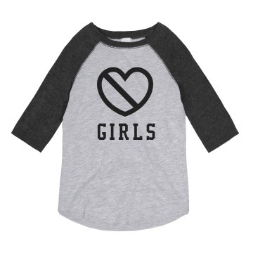 Girls Are Gross Youth Anvil Ringer Tee