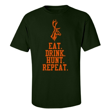 Deer Hunting T-Shirt Unisex Port & Company Essential Tee