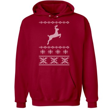Deer Jump Sweater Hoodie Unisex Hanes Ultimate Cotton Heavyweight Hoodie