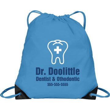 Dentist Bag Port & Company Drawstring Cinch Bag