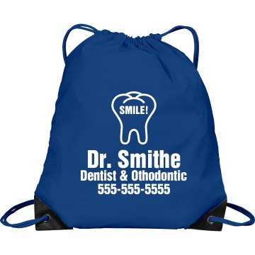 Dentist Promo Bag Port & Company Drawstring Cinch Bag