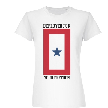 Deployed For Your Freedom Junior Fit Basic Bella Favorite Te