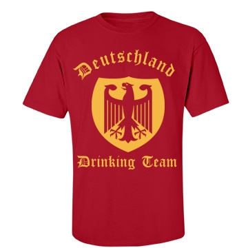 Deutschland Drinking Team Unisex Port & Company Essential Tee