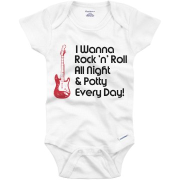 Rock 'n' Roll All Night Infant Gerber Onesies