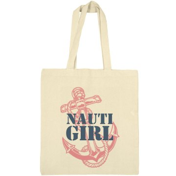 Nauti Girl Navy Tote Liberty Bags Canvas Bargain Tote Bag