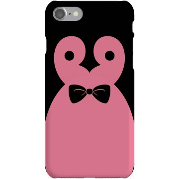 Bow Tie Penguin Plastic iPhone 5 Case Black