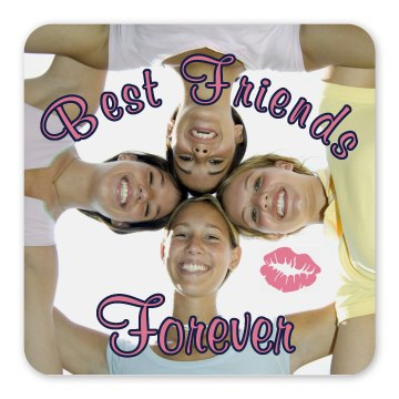 BFF Magnet Square Magnet