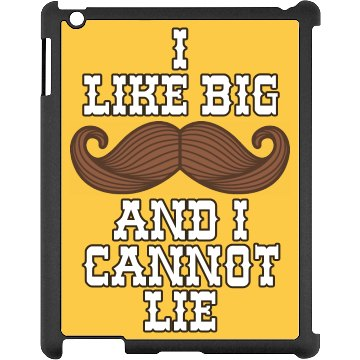 I Like Big Mustaches Black iPad Snap-on Case