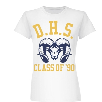 DHS Class Of 90 Reunion Junior Fit Basic Bella Favorite Tee