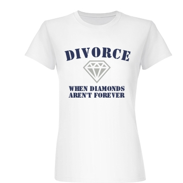 Diamonds Aren't Forever Junior Fit Basic Bella Favorite Tee