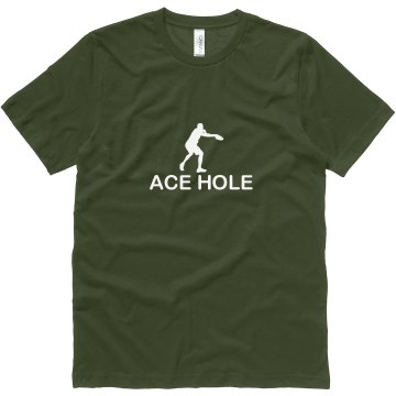 Disc Golf Ace Hole Unisex Canvas Jersey Tee