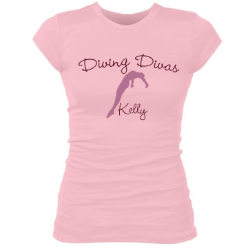Diving Divas T-Shirt Junior Fit Bella Sheer Longer Length Rib Tee