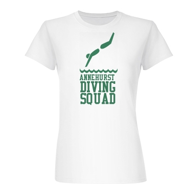 Diving Squad Tee Junior Fit Basic Bella Favorite Tee