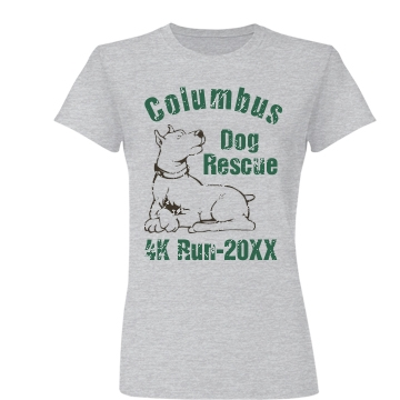 Dog Rescue Run Junior Fit Basic Bella Favorite Tee
