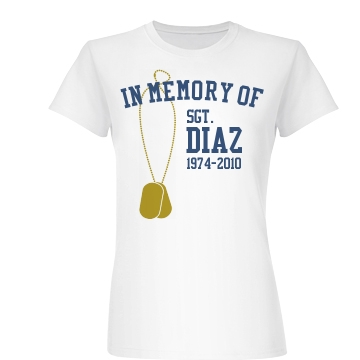 Dog Tag In Memory Of Junior Fit Basic Bella Favorite Tee