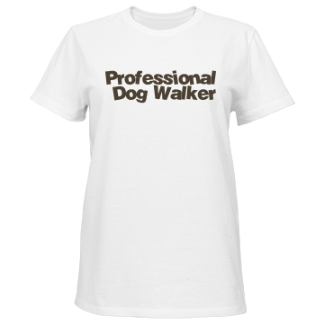 Dog Walker w/ Back Misses Relaxed Fit Port & Company Basic Tee