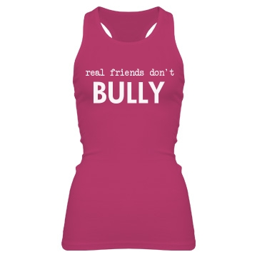 Don't Bully Tank Junior Fit Bella Sheer Longer Length Rib Racerback Tank Top