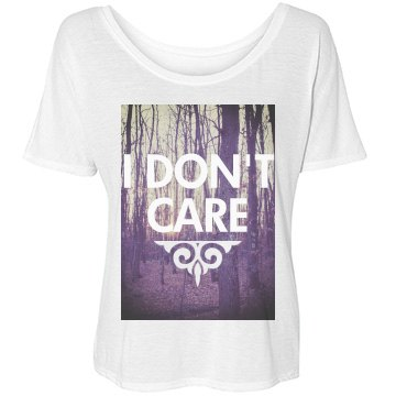 Don't Care Photo Bella Flowy Lightweight Simple Tee