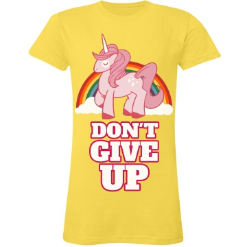 Don't Give Up Junior Fit LA T Fine Jersey Tee
