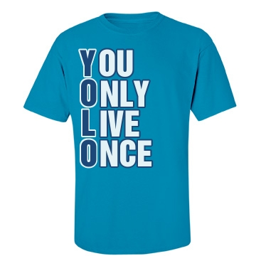 Downward YOLO Unisex Gildan Heavy Cotton Crew Neck Tee