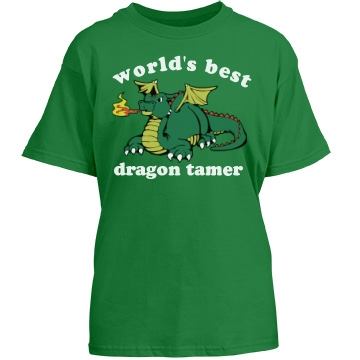 Dragon Tamer T-Shirt Youth Gildan Heavy Cotton Crew Neck Tee