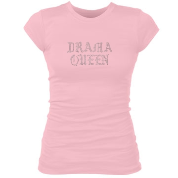 Drama Queen Junior Fit Bella Sheer Longer Length Rib Tee