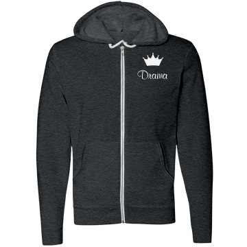Drama Queen Sweater Unisex Canvas Fleece Full-Zip Hoodie